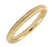 Simply Stacks Sterling 18K Yellow Gold-Plated 2.25mm Txtr Ring - J298866