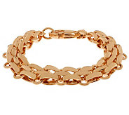 Bronze 7-1/4 Fancy Oval Link Bracelet by Bronzo Italia - J311966