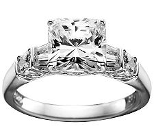 Epiphany Diamonique Princess-Cut Ring