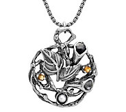 Or Paz Sterling Cultured Pearl and Citrine Pendant w/ Chain - J313466