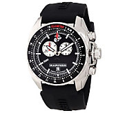 Wrist Armor Mens Swiss Quartz Chrono Watch, Black Strap - J315466