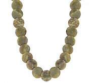 Connemara Marble Round Disc 18 Necklace with Extender - J316766