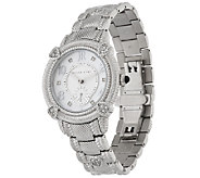 Judith Ripka Stainless Steel Mother-of-Pearl Watch - J320266