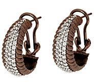 As Is Judith Ripka Sterling & 14K Clad Verona Hoop Earrings - J322466