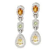 Judith Ripka Multi-Gemstone & Diamonique Earrings - J322566
