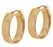 Vicenza Gold Polished Oval Hoop Earrings 14K Gold - J324666