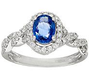 Premier Ceylon Sapphire & Diamond Ring, 14K Gold 0.80 cttw - J324866
