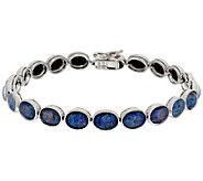 As Is Australian Opal Triplet 8 Sterling Tennis Bracelet - J325566