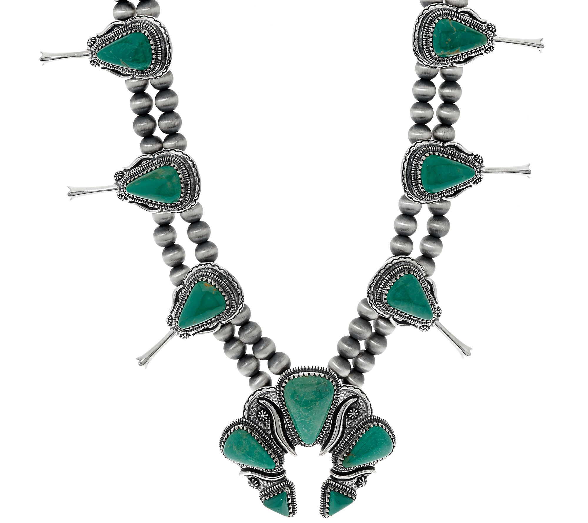 Jennifer Nettles Sterling Silver Turquoise Bold Necklace Page 1