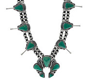 Jennifer Nettles Sterling Silver Turquoise Bold Necklace - J326466