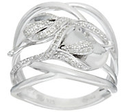 Calla Lily Diamond Sterling Ring, 1/5 cttw, by Affinity - J328666