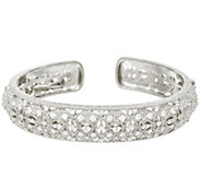 Judith Ripka Sterling Silver Diamonique Estate Cuff Bracelet - J329366