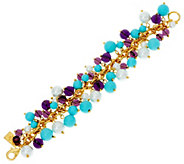 The Elizabeth Taylor Blue and Purple Cluster Bead Bracelet - J330266