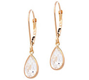 Diamonique 3.00 cttw Pear Leverback Earrings, 14K - J331266