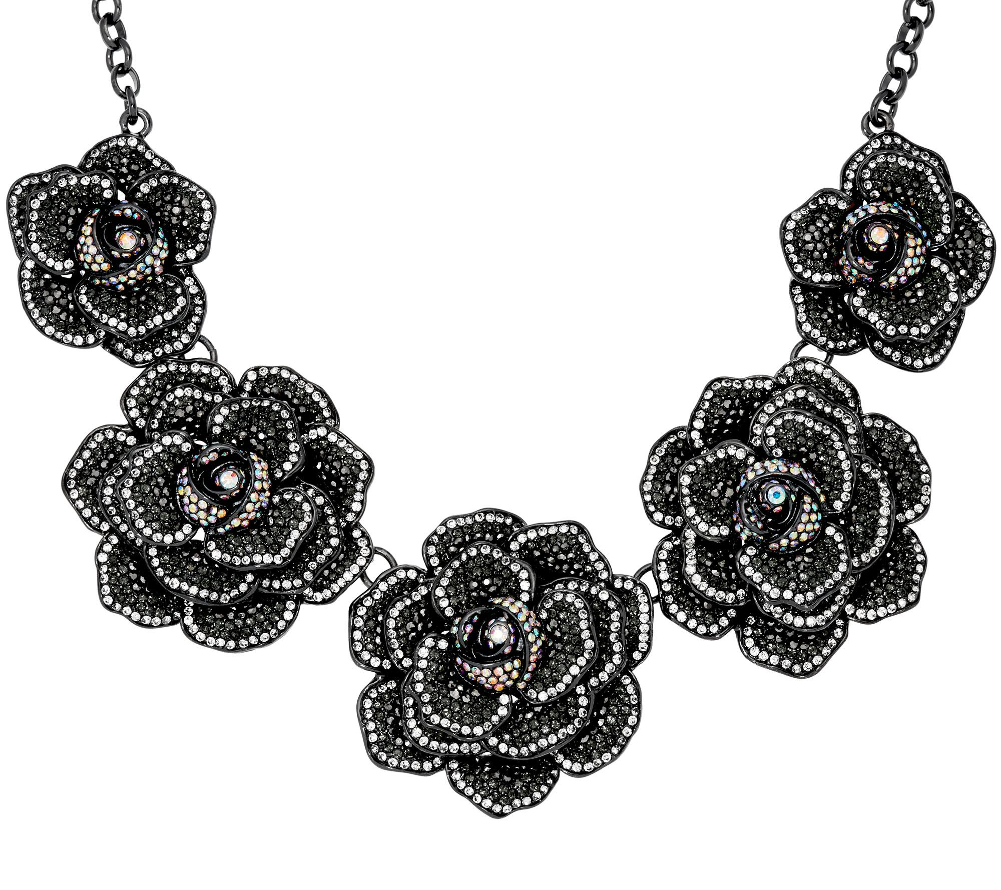 As is joan rivers extravagant pave 39 rose 18 necklace for Joan rivers jewelry necklaces