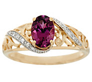 Purple Rhodolite Garnet & Diamond Ring 14K, 0.70 ct - J334366