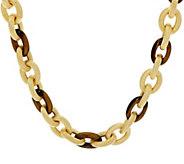 Judith Ripka Verona 18 Gemstone Link 14K Clad Necklace 78.0g - J348266
