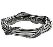 Peter Thomas Roth Sterling Signature Black Diamond 4mm Band Ring - J349866