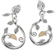 Or Paz Sterling/14K Leaf Dangle Earrings - J351366