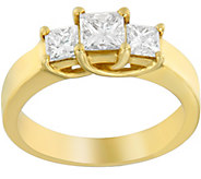 3-Stone Princess Cut Ring, 14K Yellow Gold, 1cttw, by Affinit - J376866