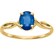 14K Gemstone Oval Solitaire Ring - J376966