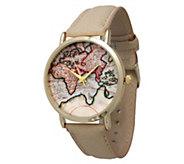 Olivia Pratt Womens Travelers Leather Watch - J380466
