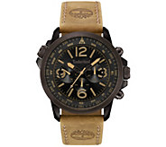Timberland Mens Stainless Tan Leather Multi-Function Watch - J380766
