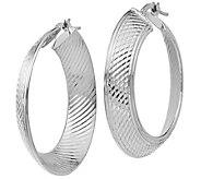 Italian Gold Graduated Hoop Earrings 14K - J381666