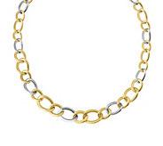 Italian Gold 18 Graduated Curb Link Necklace 14K, 15.0g - J381966