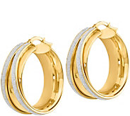 Italian Gold 1-1/8 Glimmer Round Hoop Earrings14K, 7.8g - J382266
