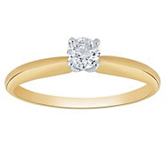Affinity 14K Gold 1/4 cttw Round Solitaire Diamond Ring - J383566