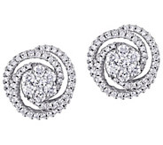 Affinity 14K 1.50 cttw Diamond Cluster Stud Earrings - J383666