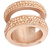 Steel by Design Stainless Steel Crystal Stack Ring - J383766
