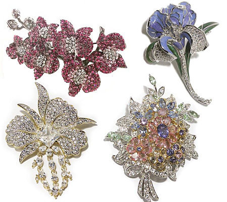 Nolan Miller's Floral Fantasy Series II Pin Collection Auto-Delivery