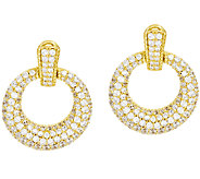 Judith Ripka Sterling & 14k Clad 6.10 ct Diamonique Hoop Earrings - J272567