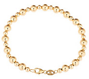 EternaGold 7 6.0mm Polished Bead Bracelet 14K Gold, 3.0g - J283267