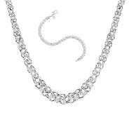UltraFine Silver Woven Byzantine Bracelet or Necklace - J290867