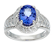 1.60 ct tw Oval Tanzanite Sterling Ring - J291067