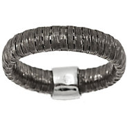 As Is Vicenza Silver Sterling Diamond Cut Wire Band Ring - J292167