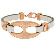 As Is Bronzo Italia Leather Status Link Bracelet - J292267