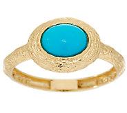 Adi Paz Sleeping Beauty Turquoise Textured Ring 14K Gold - J293167
