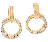 EternaGold Small Two-tone Circle Dangle Earrings, 14K - J294267