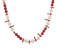 Lee Sands Red & White Coral 21 Necklace - J302767