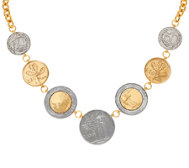 "Veronese 18K Clad Lire Coin 18"" Necklace with Extender"