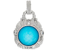 Judith Ripka Turquoise Doublet & Diamonique Enhancer - J325167