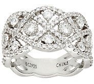Diamonique Floating Stone Band Ring, Sterling - J326067