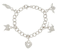 Guardian Angel Diamond Charm Bracelet, 1/5 cttw, Sterling, by Affinity - J326267