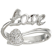Diamonique Inspirational Ring, Sterling - J326567