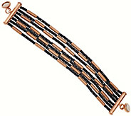 As Is Bronze Multi-strand Hematite Bead Bracelet by Bronzo Italia - J327467