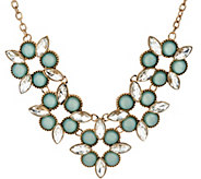 Susan Graver Geometric Floral Statement Necklace - J328567